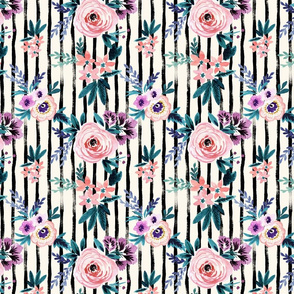 Victoria Floral Stripe - medium rotate
