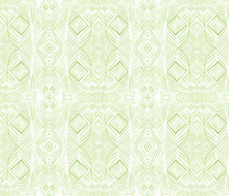 aztec green fabric by kimjohnsonstudiostextiles on Spoonflower - custom fabric
