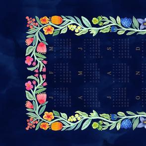 2019 Floral Watercolour calendar