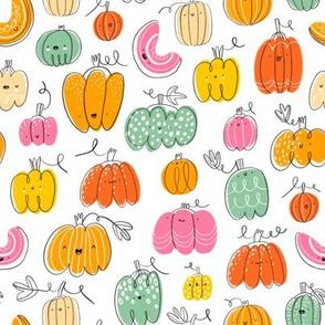 Funny pumpkins pattern