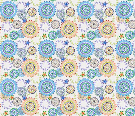 Bejeweled Sunflowers fabric by numinart on Spoonflower - custom fabric