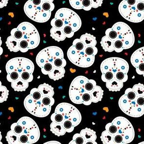 Mexican sugar skulls dia de los muertos skull halloween kids boys
