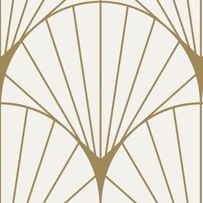 SunRay Burst Gold on White