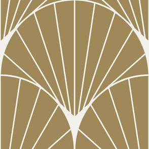 SunRay Burst White on Gold