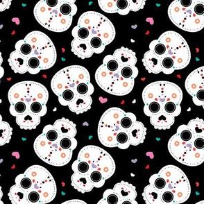 Mexican sugar cranium skulls dia de los muertos skull halloween kids girls