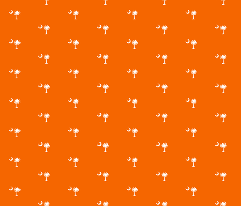 SC Flag Palmetto Moon Clemson Orange SOUTH CAROLINA fabric by khaus on Spoonflower - custom fabric