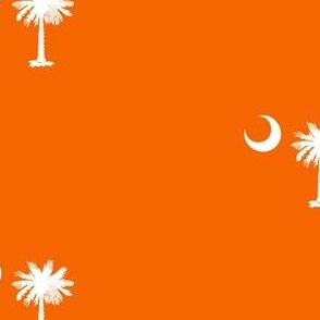 SC Flag Palmetto Moon Clemson Orange SOUTH CAROLINA