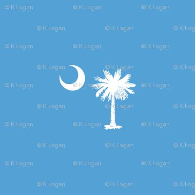 SC Flag Palmetto Moon CAROLINA BLUE SOUTH CAROLINA