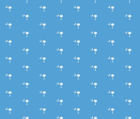 SC Flag Palmetto Moon CAROLINA BLUE SOUTH CAROLINA fabric by khaus on Spoonflower - custom fabric