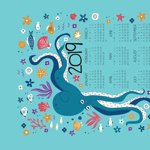 Under the Sea Tea Towel Calendar