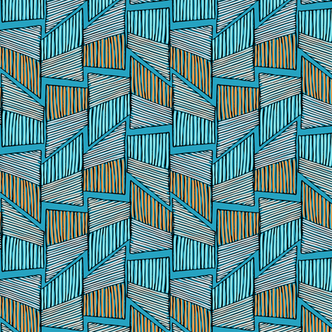 African Kente Cloth Beach Colors fabric by fabric_is_my_name on Spoonflower - custom fabric