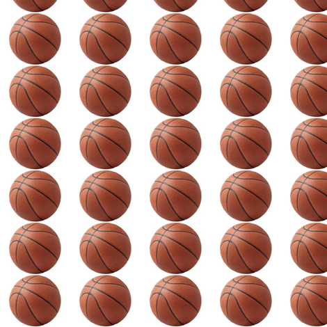 Mini Basketballs fabric by fabric_is_my_name on Spoonflower - custom fabric