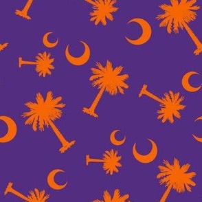 Clemson Orange Palmetto Moon Pattern Differnet Sizes Orange-01