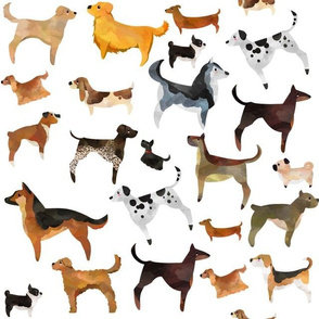 Watercolor Dogs