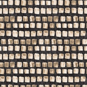 Sepia Brown Cream Beige Texture Watercolor Squares on Black _ Miss Chiff Designs