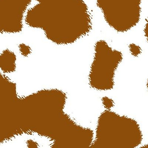 Brown Longhorn Cow Spots