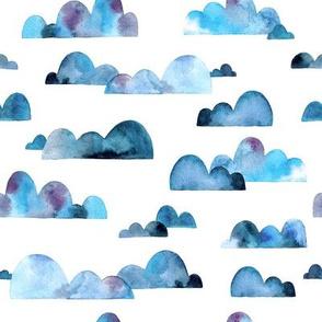 Retro Watercolor Clouds