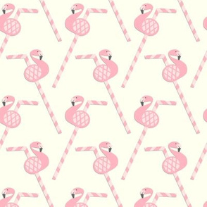 Flamingo Party Straws