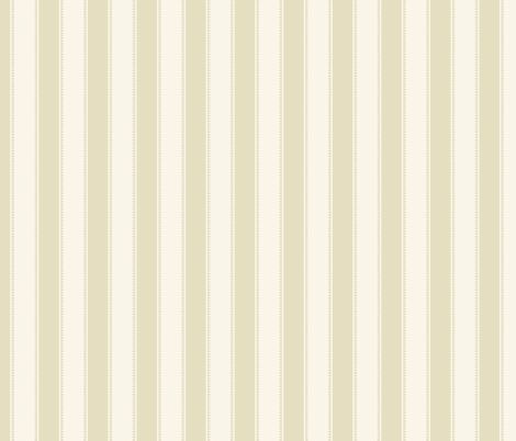 Victorian Stripe - Cream  fabric by fernlesliestudio on Spoonflower - custom fabric