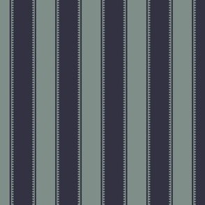 Victorian Stripe - Dark Blue