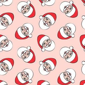 Santa Claus - toss on pink - Christmas