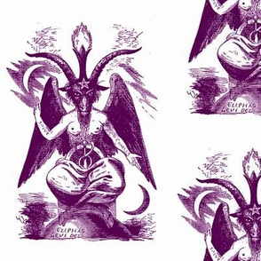 baphomet purple on white