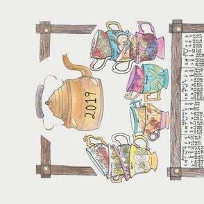 Monthly Tea Calendar Tea Towel