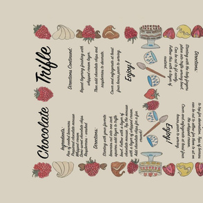 Double trifle recipes tea towel