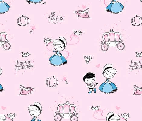 cinderella_02 fabric by ewa_brzozowska on Spoonflower - custom fabric