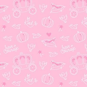 Cinderella - secondary pattern pink