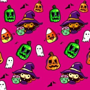 halloween witch pink