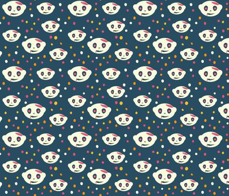 Ghost Zombie Head fabric by lidiebug on Spoonflower - custom fabric