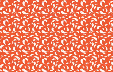Ghosts M+M Watermelon by Friztin fabric by friztin on Spoonflower - custom fabric