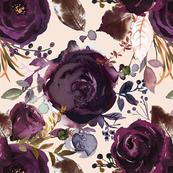 X-Large // Boho Plum Roses