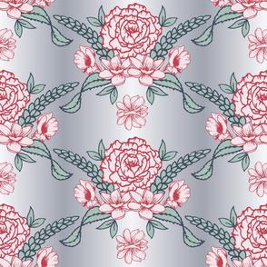 Victorian damask pattern_v