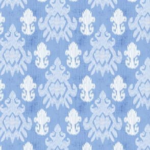 17-11C White Ikat on Baby Blue Boy    Home decor _ Miss Chiff Designs