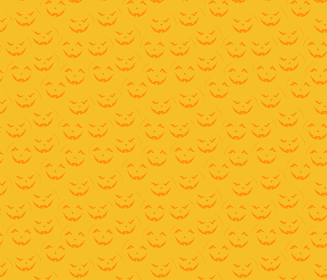Orange Jack o Lantern fabric by lidiebug on Spoonflower - custom fabric