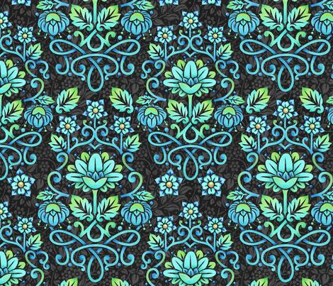Nouveau Damask fabric by patriciasheadesigns on Spoonflower - custom fabric