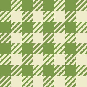 FS Fall Green and Cream Plaid Check