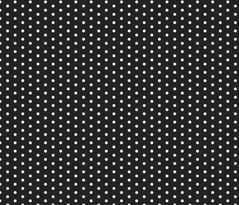 FS Small White Polka Dot on Raven Black fabric by fern&sterling on Spoonflower - custom fabric