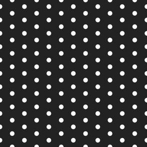 FS Small White Polka Dot on Raven Black