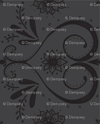 doodle damask