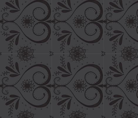 doodle damask fabric by dempsey on Spoonflower - custom fabric