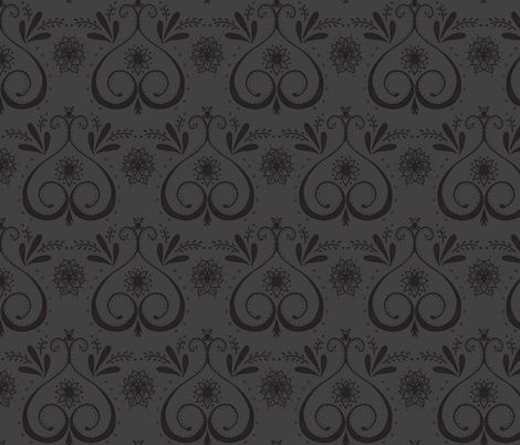 doodle damask-ed fabric by dempsey on Spoonflower - custom fabric