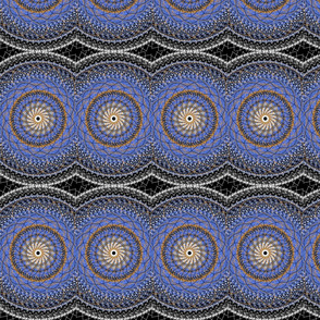 Blue Mandalas