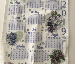 2019 Hydrangea Tea Towel
