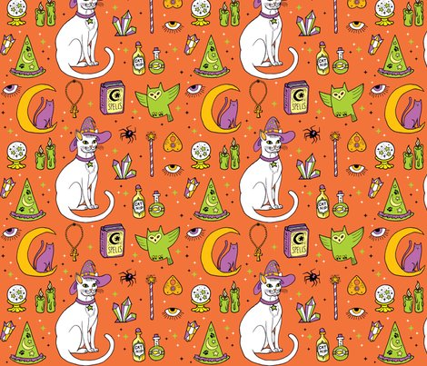 Mystical-cats-halloween-in_orange-and-white_shop_preview
