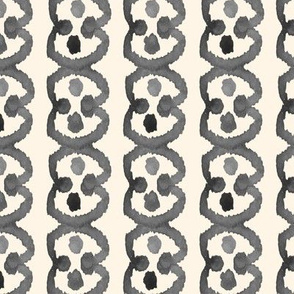 Circle Spot Watercolor Ikat Cream Off White Grey Black white || Tribal Neutral Home Decor Gray _ Miss Chiff Designs