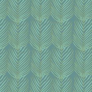Palms Flamingo Blue