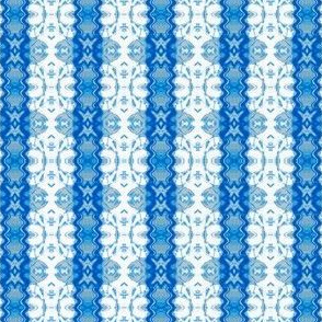 Blue and White Geometric Stripe
